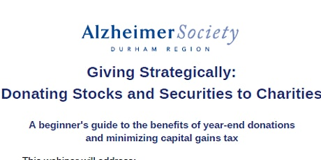 Giving Strategically: Donating Stocks and Securities to Charities