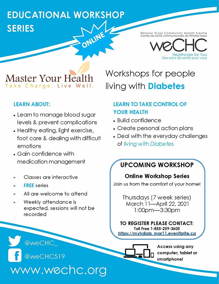 Master Your Health Diabetes - FREE Online Education Series image