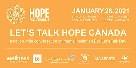 Let's Talk Hope CANADA tickets
