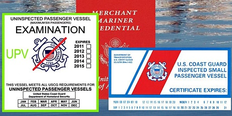 US Coast Guard Passenger for Hire Workshop for Owners and Operators ONLINE tickets