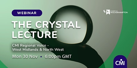 The Crystal Lecture -  Inclusivity in a Post-Covid world tickets