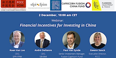 Webinar: Financial Incentives for Investing in China tickets