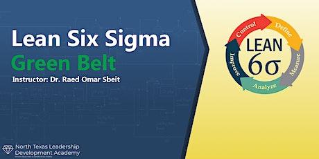 Virtual-NTx Leadership Dev Academy  - Lean Six Sigma Green Belt Certificate tickets