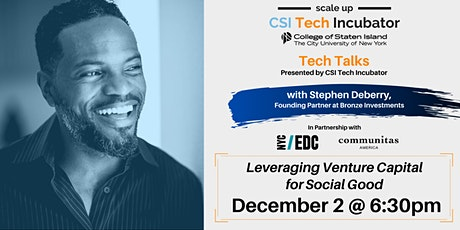 Tech Talks | Stephen Deberry,  Founding Partner at Bronze Investments tickets