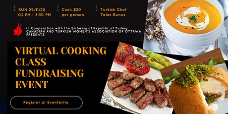 Virtual Cooking Class Fundraising Event with a Turkish Chef tickets