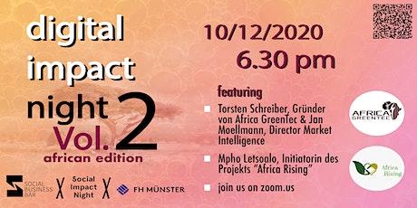 Digital Impact Night mit Torsten Schreiber (Africa GreenTec) Tickets