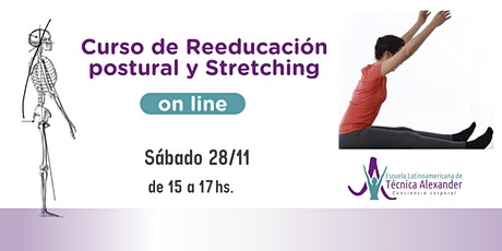 Curso Online  Stretching y Reeducación postural 2 con Técnica Alexander entradas