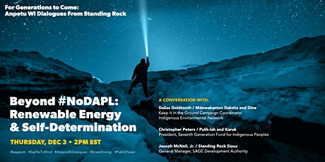 Beyond #NoDAPL: Renewable Energy & Self-Determination tickets