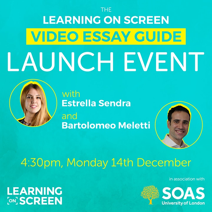 The Learning on Screen Video Essay Guide Launch image