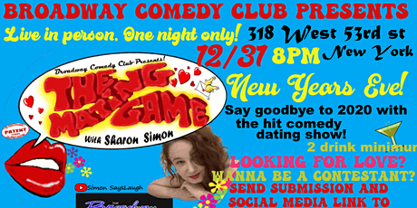 The Mating Game! LIve! Onstage! New Years Eve! tickets