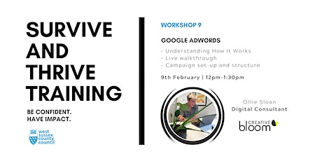 West Sussex Survive And Thrive #9: Google Adwords   Training tickets