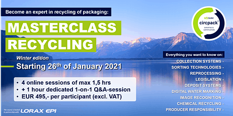 SUEZ.circpack® Masterclass Recycling tickets
