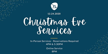 4PM   Christmas Eve Service. Tickets, Thu, Dec 24, 2020 at 4:00 PM