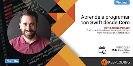 Webinar: Aprende a programar con Swift desde Cero boletos