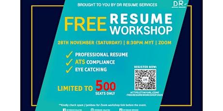 FREE RESUME WORKSHOP tickets