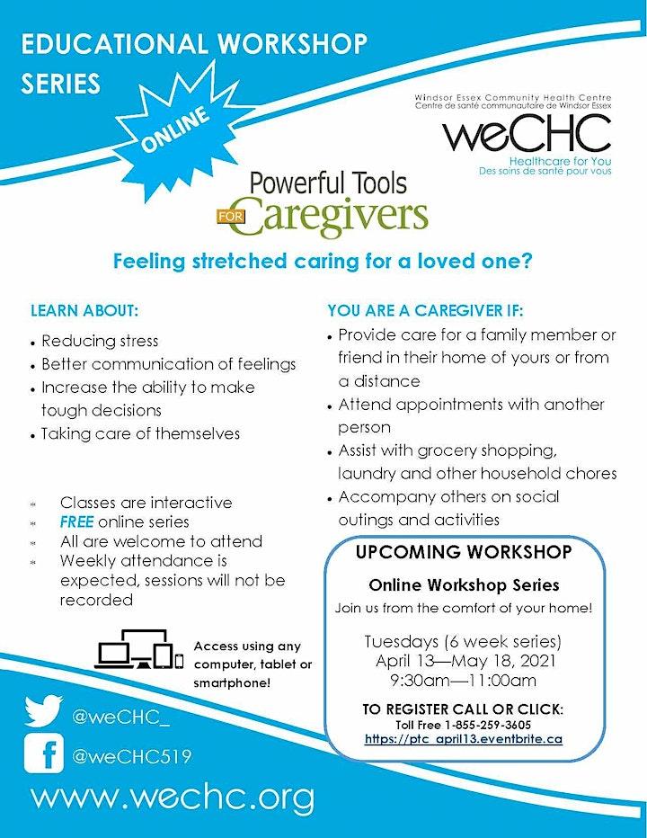 Powerful Tools for Caregivers Webinar - FREE ONLINE  Workshop Series image