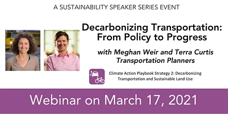 Decarbonizing Transportation: From Policy to Progress tickets