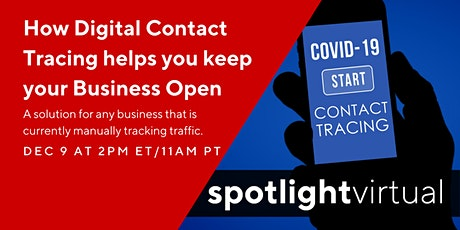 How Digital Contact Tracing helps you keep your Business Open