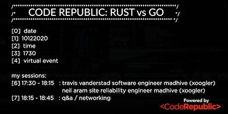 Code Republic USA: Rust vs Go tickets