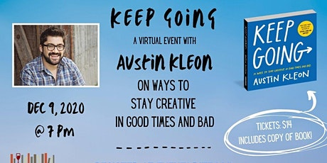 KEEP GOING: Virtual Event with Austin Kleon tickets