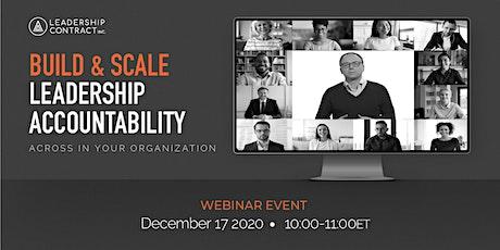 Build & Scale Leadership Accountability - December tickets