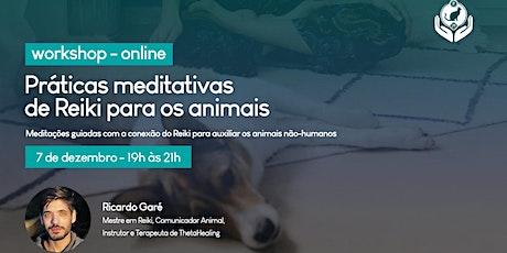 Workshop - Práticas meditativas com Reiki para os animais ingressos