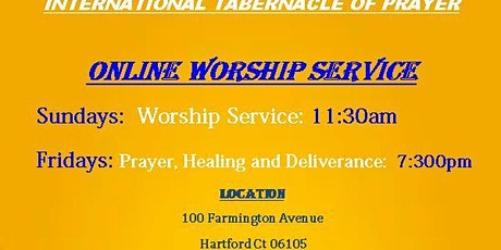 ONLINE  LIVE WORSHIP AND PRAYER SERVICES tickets
