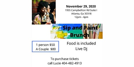 Sip and Paint Brunch tickets