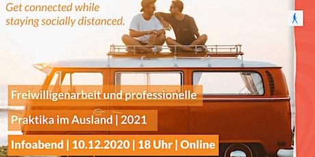 Freiwilligenarbeit und professionelle Praktika im Ausland   2021 Tickets