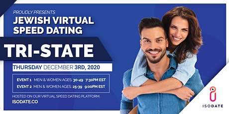 Isodate's Tri State Jewish Virtual Speed Dating- Hanukkah Special tickets