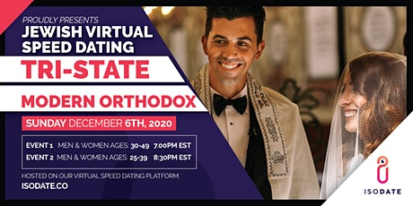 Modern Orthodox Tri State Jewish Virtual Speed Dating- Hanukkah Special tickets