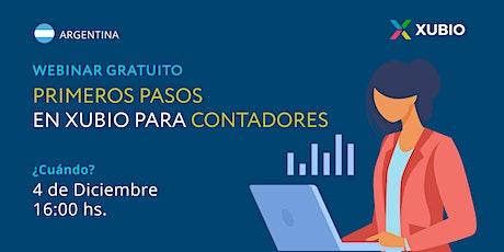 Webinar Arg: Primeros pasos en Xubio -  Contadores entradas