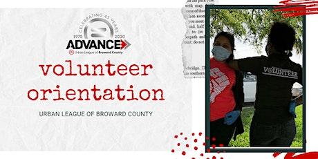 Quarterly Volunteer Orientation tickets