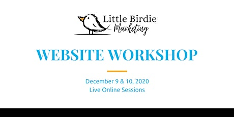 Website Workshop | Live Online Training | December 9-10, 2020 tickets