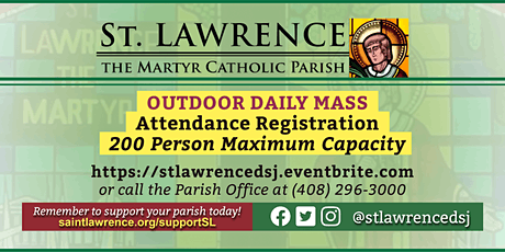 THURSDAY, November 26 @ 9:00 AM DAILY Mass Registration tickets