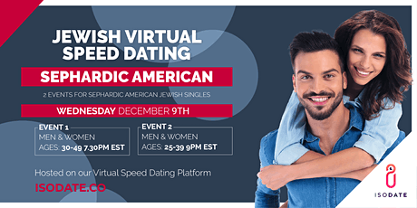 Isodate's Sephardic American Jewish Virtual Speed Dating- Hanukkah Special tickets