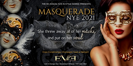 Masquerade: New Year's Eve 2021 @ EVE Orlando Downtown tickets