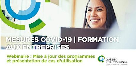 Mesures COVID-19 – Mise-à-jour des programmes gouvernementaux billets