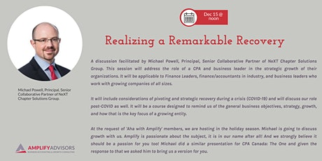 Aha with Amplify - Realizing a Remarkable Recovery tickets