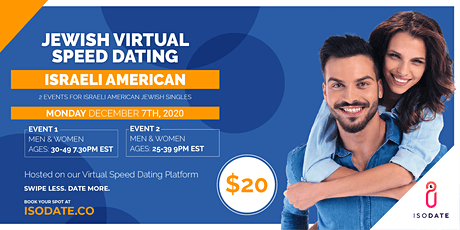 Isodate's Israeli American Jewish Virtual Speed Dating- Hanukkah Special tickets