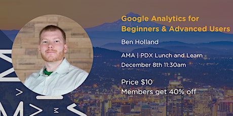 Google Analytics for Beginners and Advanced Users tickets