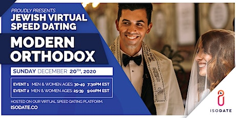 Isodate's Modern Orthodox Jewish Virtual Speed Dating- Hanukkah Special tickets