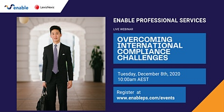 Complimentary Event: Overcoming International Compliance Challenges tickets