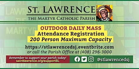 SATURDAY, November 28 @ 8:30 AM DAILY Mass Registration tickets