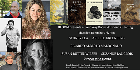Four Way Books & Bloom  Readings Present An Evening of Poetry & Prose tickets