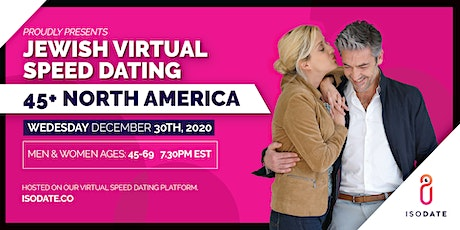Isodate's 45+  Jewish Virtual Speed Dating- Hanukkah Special tickets