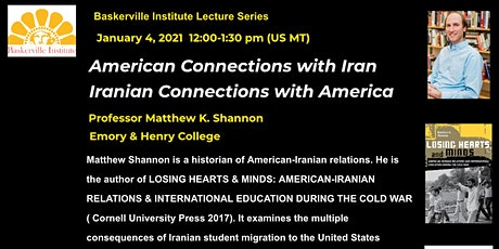 American Connections with Iran / Iranian Connections with America tickets