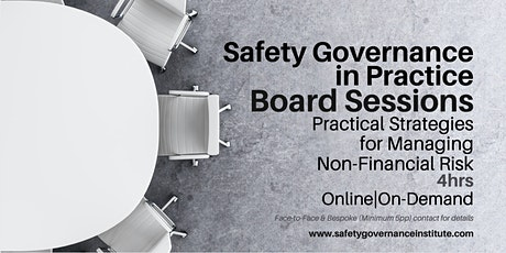 Board Session - Safety Governance tickets