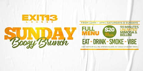 Sunday Brunch with $20 UNLIMITED Mimosa's & Bellini's! tickets