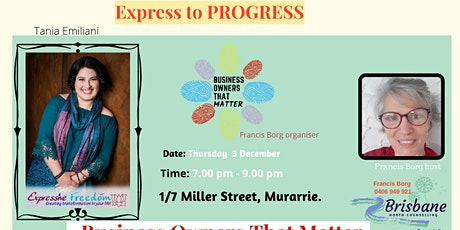 Express To PROGRESS with Tania Emiliani tickets